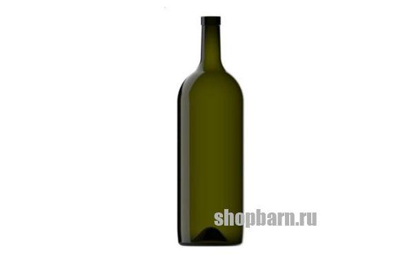 Винная бутылка 1,5 литра Бордо зелёная