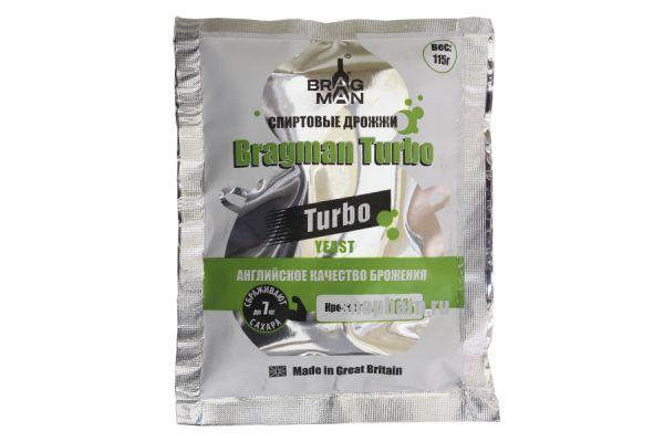 Дрожжи спиртовые  Bragman Turbo 115 гр.
